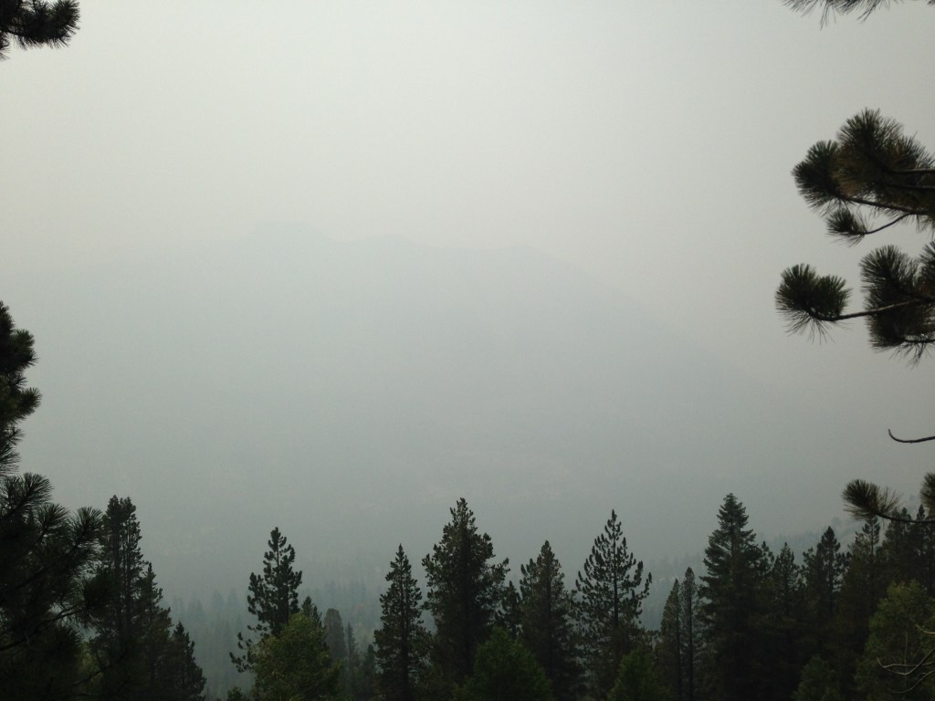 This thick wildfire smoke forced me off the JMT near the Muir Trail Ranch. There was just no way I was going to subject my lungs to this OR miss the incredible views.