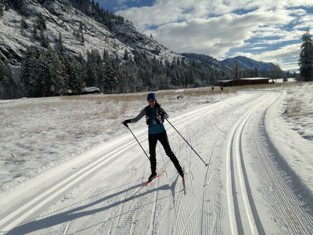 Skate skiing in the gorgeous Methow Valley! Ok, I know my form isn't the best but it's pretty darn hard to be glum with views like this!