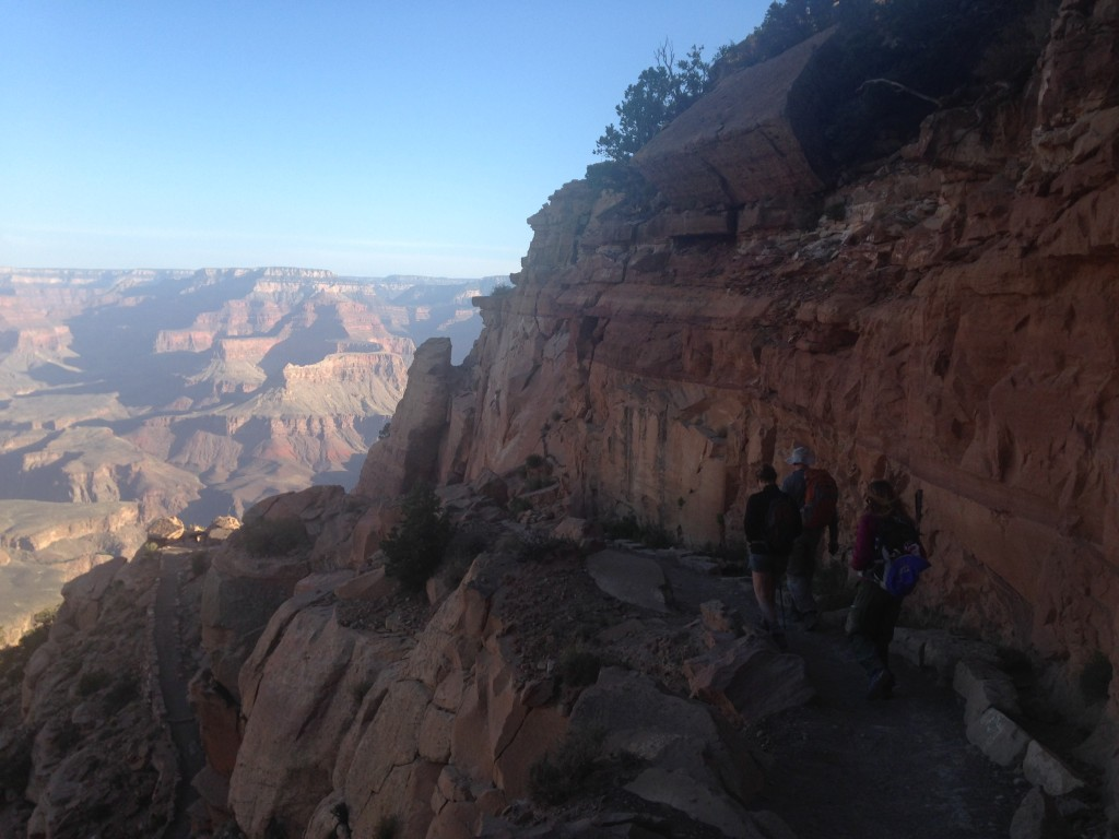 Near the start of our hike on the way down the South Kaibab trail