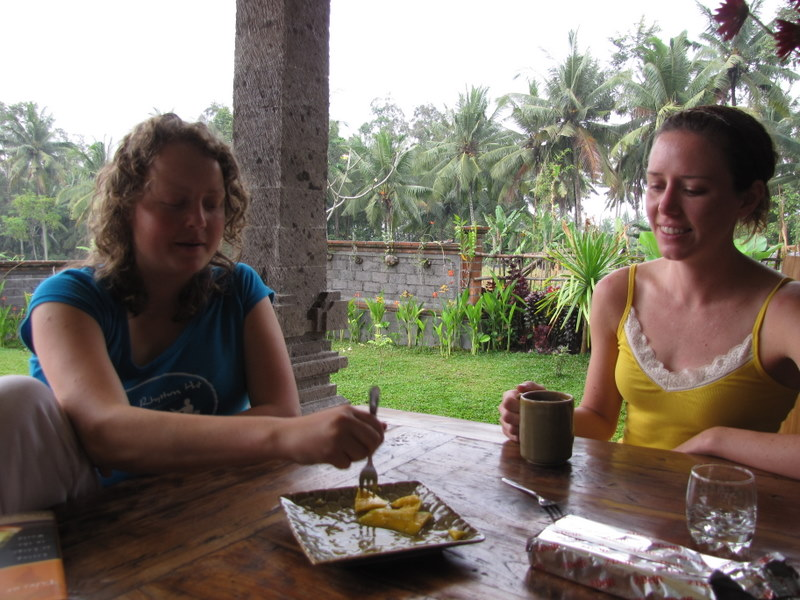 Breakfast at our digs in Ubud