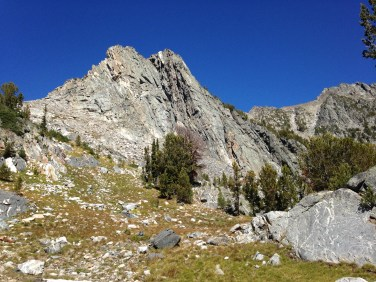 The boot track up towards Beehive Peak