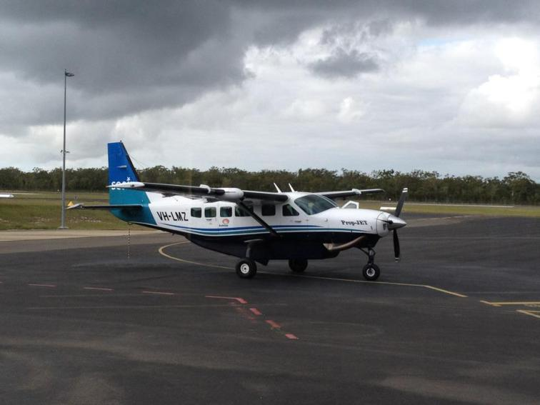 There she is - my charter plane to the reef. Tranquilize me now