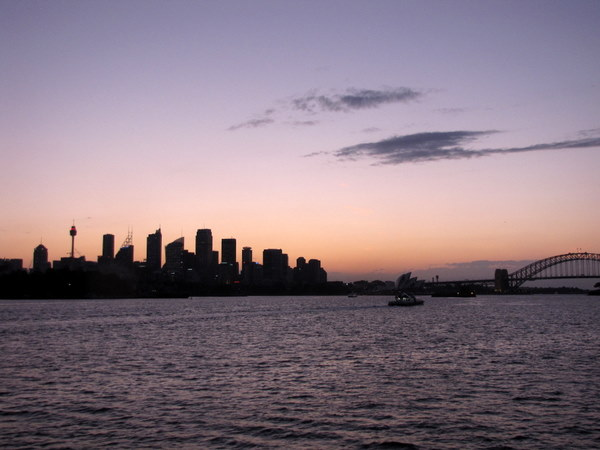 Sydney at sunset from the Manley ferry