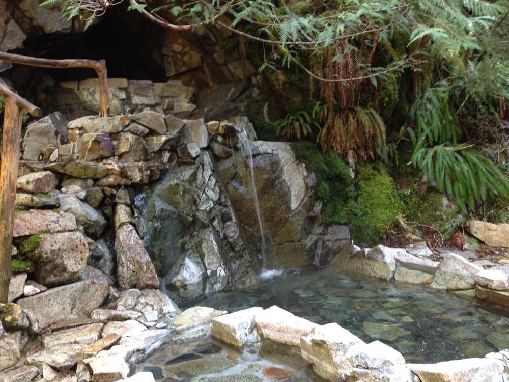 The gorgeous Goldmyer Hot Springs!
