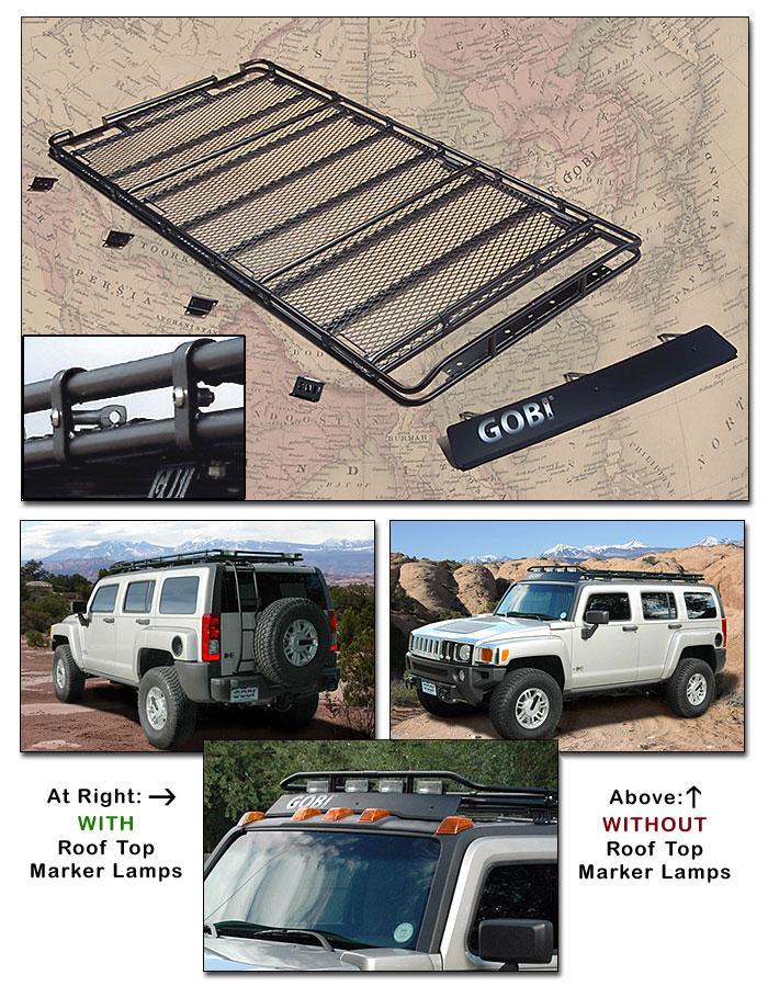 gobi hummer h3 stealth roof rack