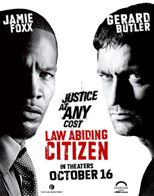 jaime foxx and gerald butler law abiding citizen movie poster