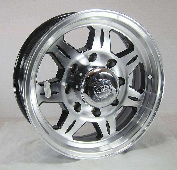 16 x 6 HD SAWTOOTH 870 Aluminum Trailer Wheel 8 Lug Heavy Duty