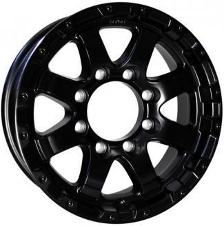 16x6 Matt Black Grinder T08 Aluminum Trailer Wheel 8 Lug