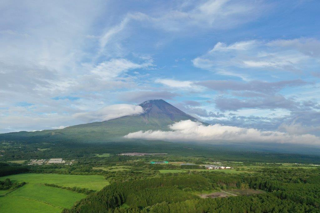 Mt. Fuji from the view of 150m high from the land level taken by Drone by Disco-4@東京