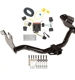 trailer tow hitch for 08 12 ford escape mazda tribute 05 11 mercury mariner w wiring harness kit [ 1000 x 1000 Pixel ]