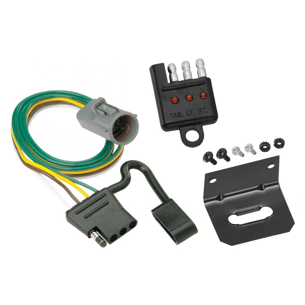 medium resolution of trailer wiring and bracket and light tester for 95 01 ford explorer 98 99 ranger w factory tow package