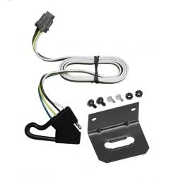 trailer wiring and bracket for 00 04 nissan xterra w factory tow package 4 flat harness  [ 1000 x 1000 Pixel ]