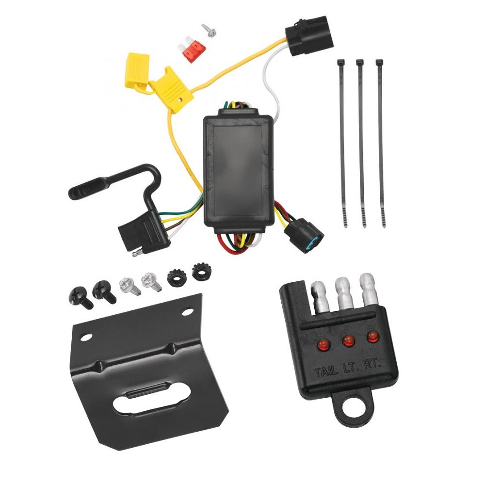 medium resolution of trailer wiring and bracket and light tester for 07 12 hyundai santa fe w factory tow