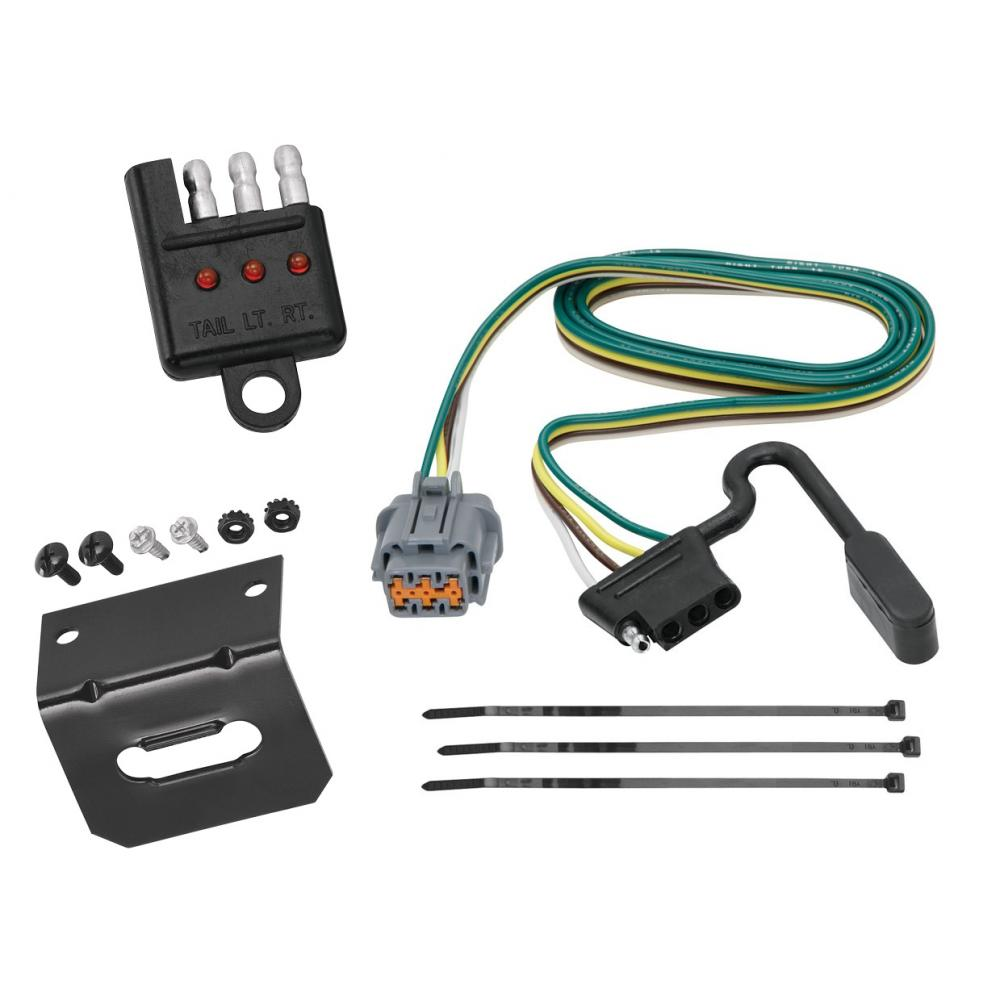 medium resolution of trailer wiring and bracket and light tester for 05 17 nissan frontier 05 07 pathfinder