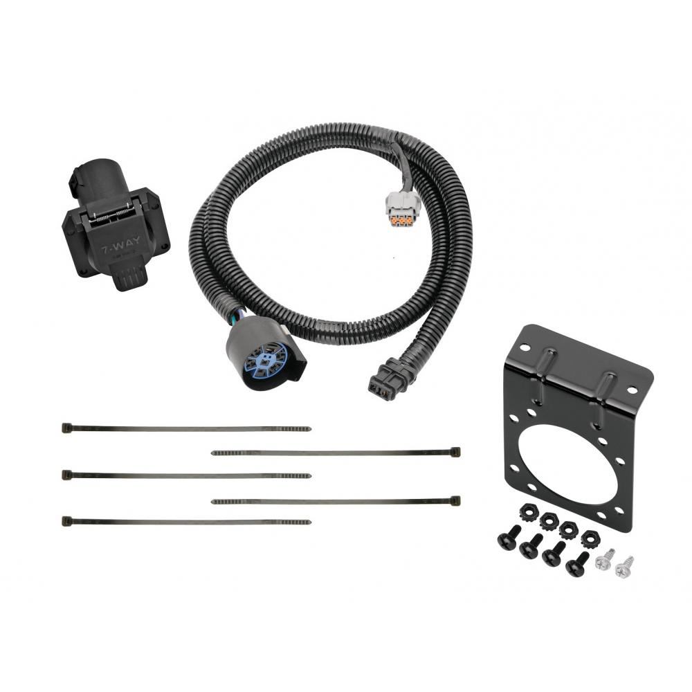 hight resolution of 7 way rv trailer wiring harness w mounting bracket for 05 19 nissan frontier 05 12