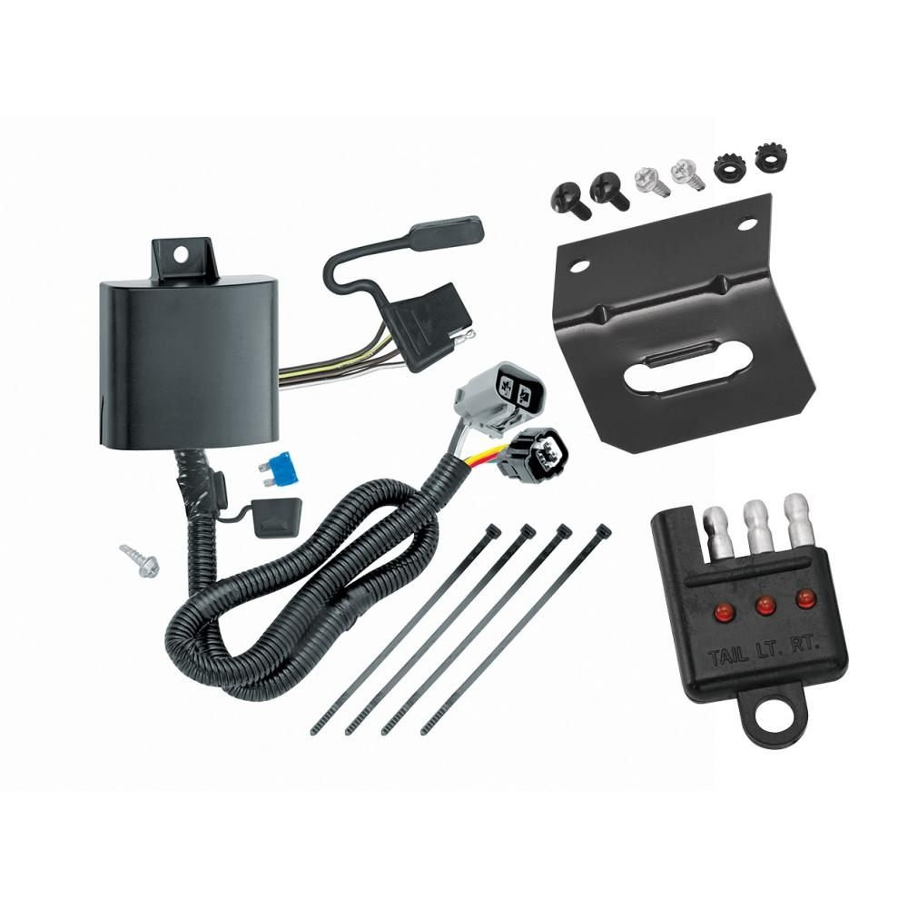 hight resolution of trailer wiring and bracket and light tester for 13 18 hyundai santa fe 2019 xl
