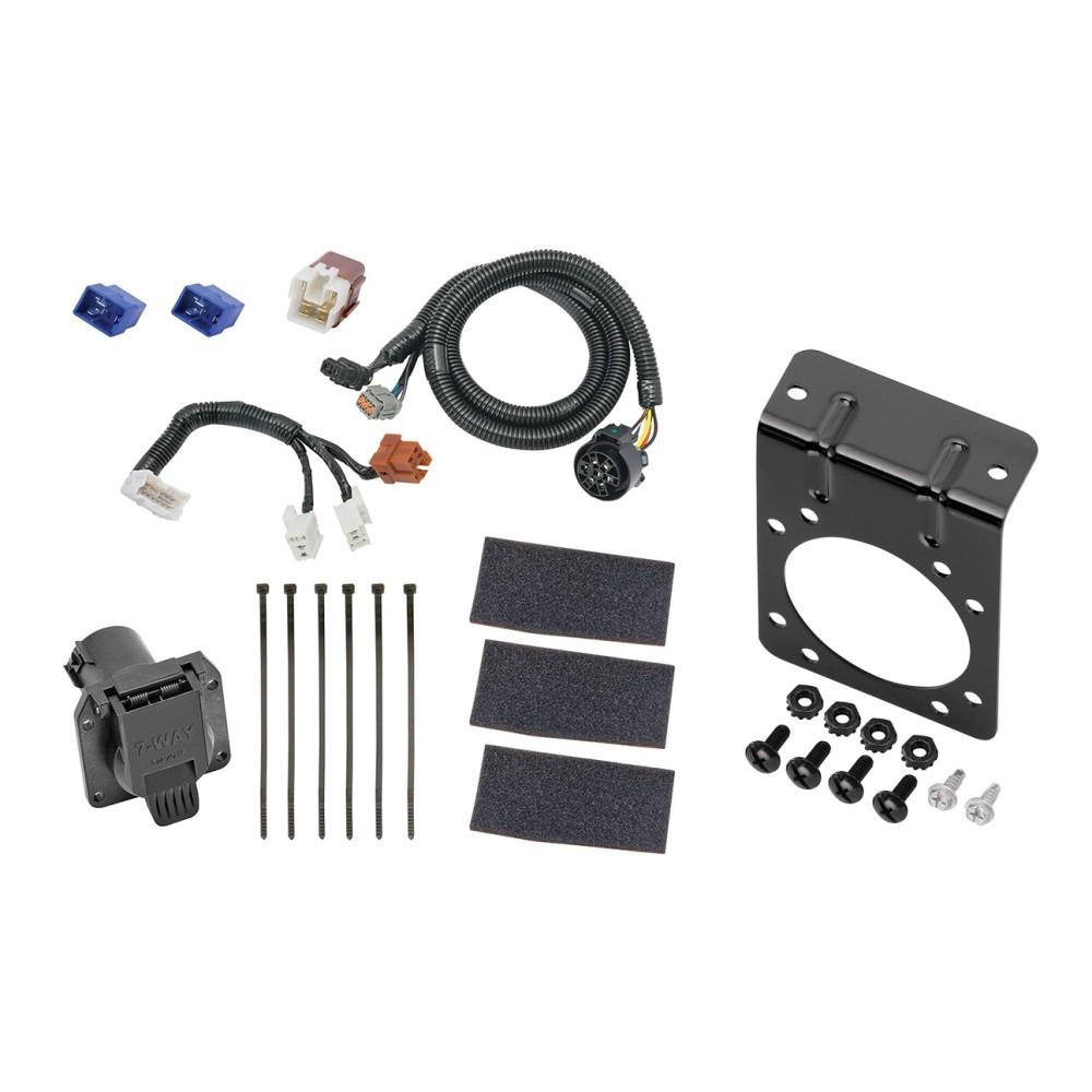 medium resolution of 7 way rv trailer wiring harness w mounting bracket for 05 19 nissan frontier 05 12