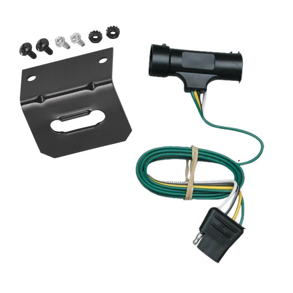medium resolution of trailer wiring and bracket for 73 84 chevy blazer suburban gmc jimmy c k pickup 4 flat harness