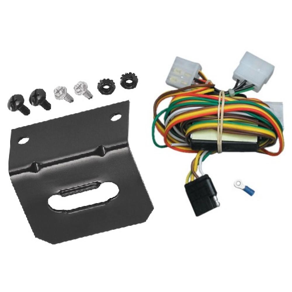 medium resolution of trailer wiring and bracket for 94 97 honda passport 92 97 isuzu rodeo all styles 4 flat harness
