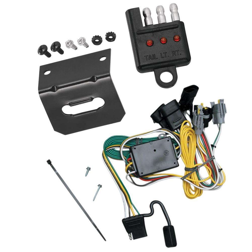 hight resolution of trailer wiring and bracket and light tester for 92 94 ford e 150 250 details about trailer hitch plugplay wiring kit ballmount ball