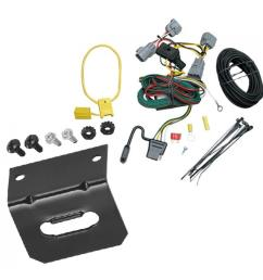 trailer wiring and bracket for 94 98 jeep grand cherokee zj all styles 4 flat harness  [ 1000 x 1000 Pixel ]