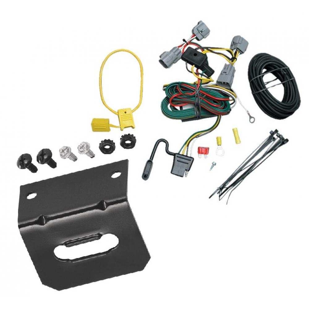 medium resolution of trailer wiring and bracket for 94 98 jeep grand cherokee zj all styles 4 flat harness