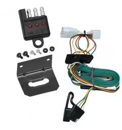trailer wiring and bracket and light tester for 97 01 jeep cherokee all styles 4 flat harness  [ 1000 x 1000 Pixel ]