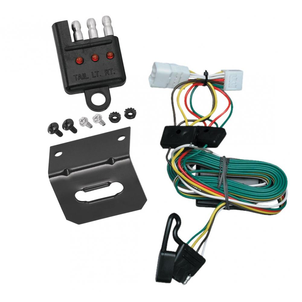 medium resolution of trailer wiring and bracket and light tester for 97 01 jeep cherokee all styles 4 flat harness