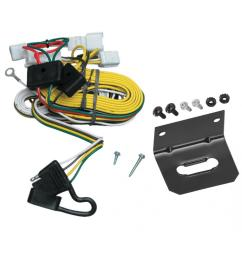 trailer wiring and bracket for 97 01 toyota camry 4 dr sedan 4 flat harness plug play [ 1000 x 1000 Pixel ]