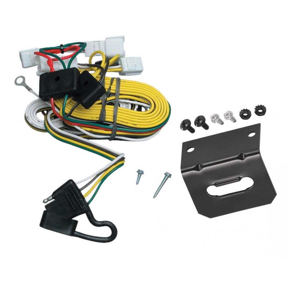 hight resolution of trailer wiring and bracket for 97 01 toyota camry 4 dr sedan 4 flat harness plug play