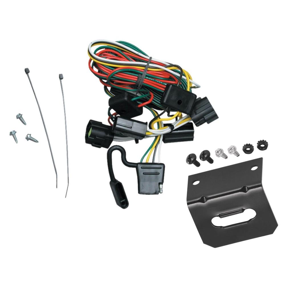 medium resolution of trailer wiring and bracket for 98 02 honda passport 98 00 isuzu amigo 98 04 rodeo