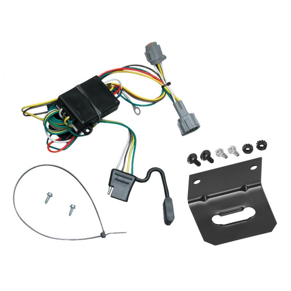 medium resolution of trailer wiring and bracket for 98 04 nissan frontier 1998 quest mercury villager 4 flat harness plug play