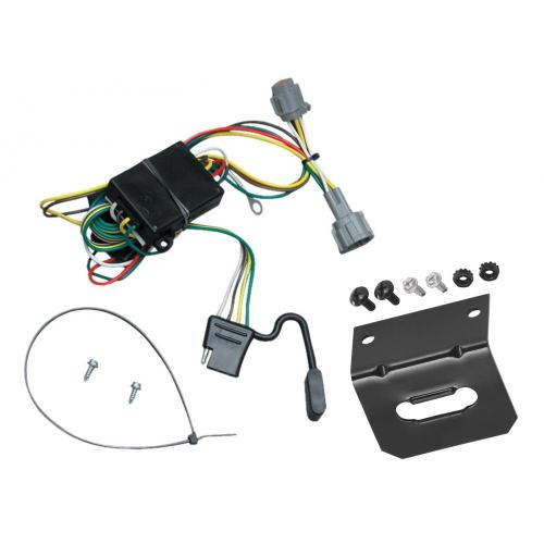small resolution of trailer wiring and bracket for 98 04 nissan frontier 1998 quest mercury villager 4 flat harness plug play
