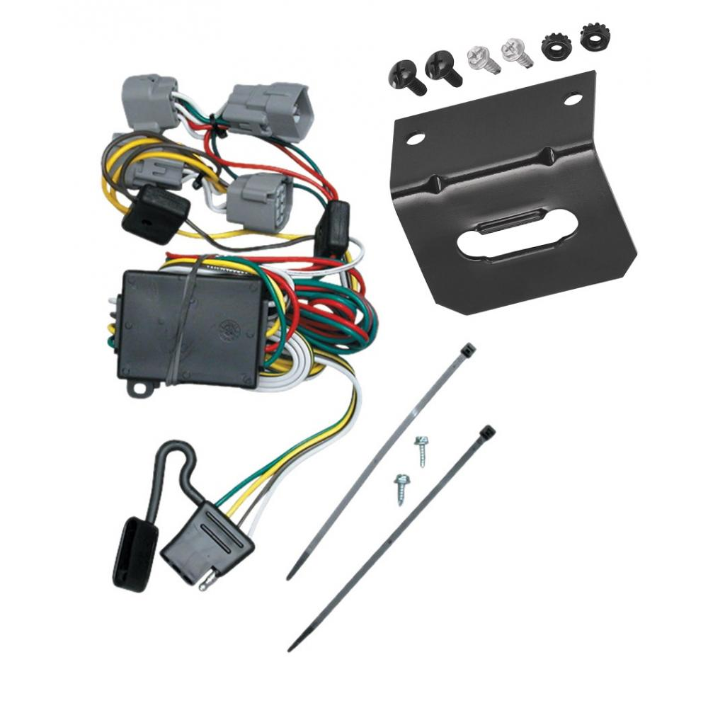 medium resolution of trailer wiring and bracket for 98 04 chrysler 300m concorde lhs dodge intrepid 4 flat harness plug play