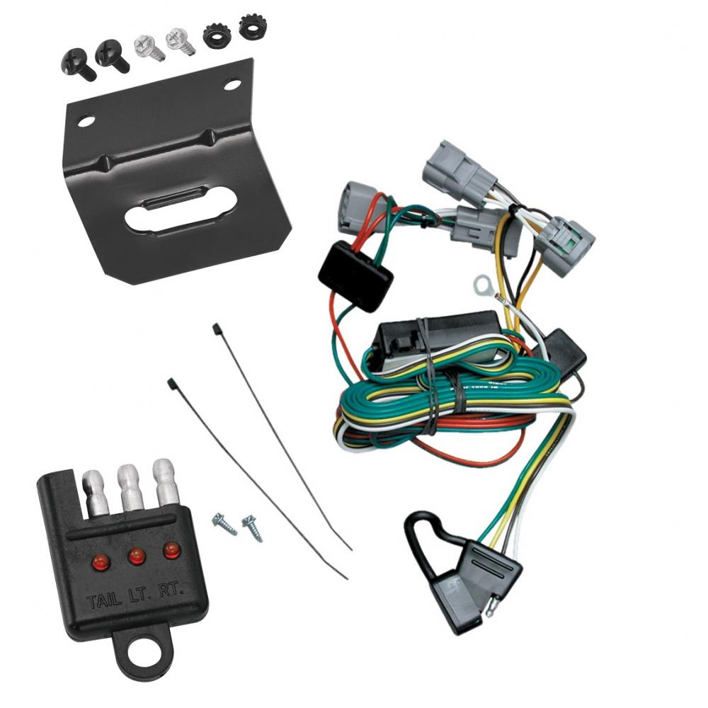 medium resolution of trailer wiring and bracket and light tester for 01 06 mitsubishi montero except montero sport