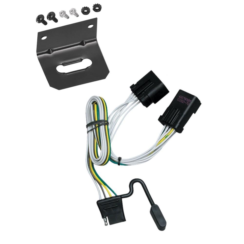 medium resolution of trailer wiring and bracket for 00 10 jeep chrysler dodge dakota aspen liberty sprinter ram durango