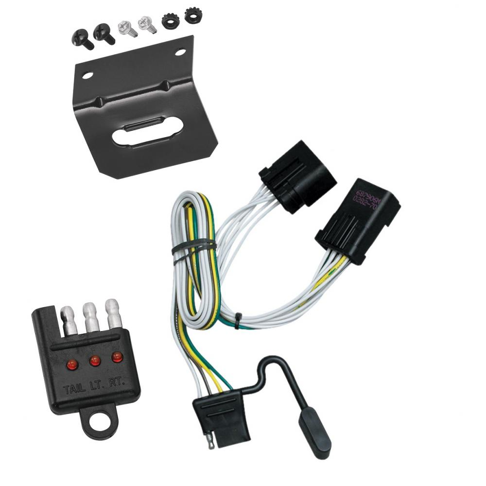 hight resolution of trailer wiring and bracket and light tester for 00 10 jeep chrysler wiring kit trailer tow 7way fits dodge durango 2000