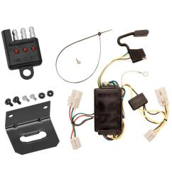 trailer wiring and bracket and light tester for 00 02 toyota echo 03 20032004 toyota sequoia trailer wiring harness 4 pin flat style [ 1000 x 1000 Pixel ]