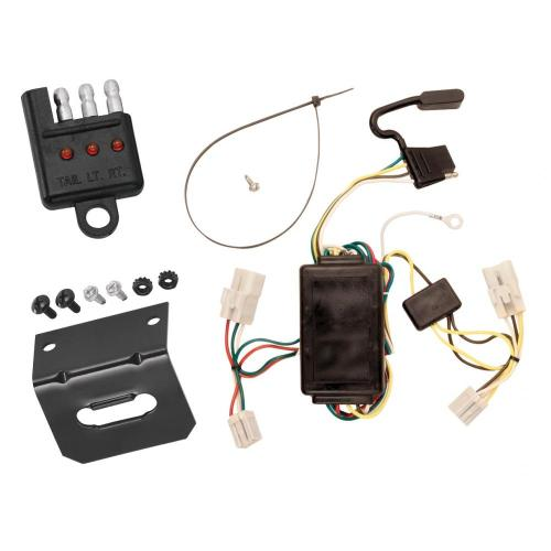 small resolution of trailer wiring and bracket and light tester for 00 02 toyota echo 03 20032004 toyota sequoia trailer wiring harness 4 pin flat style