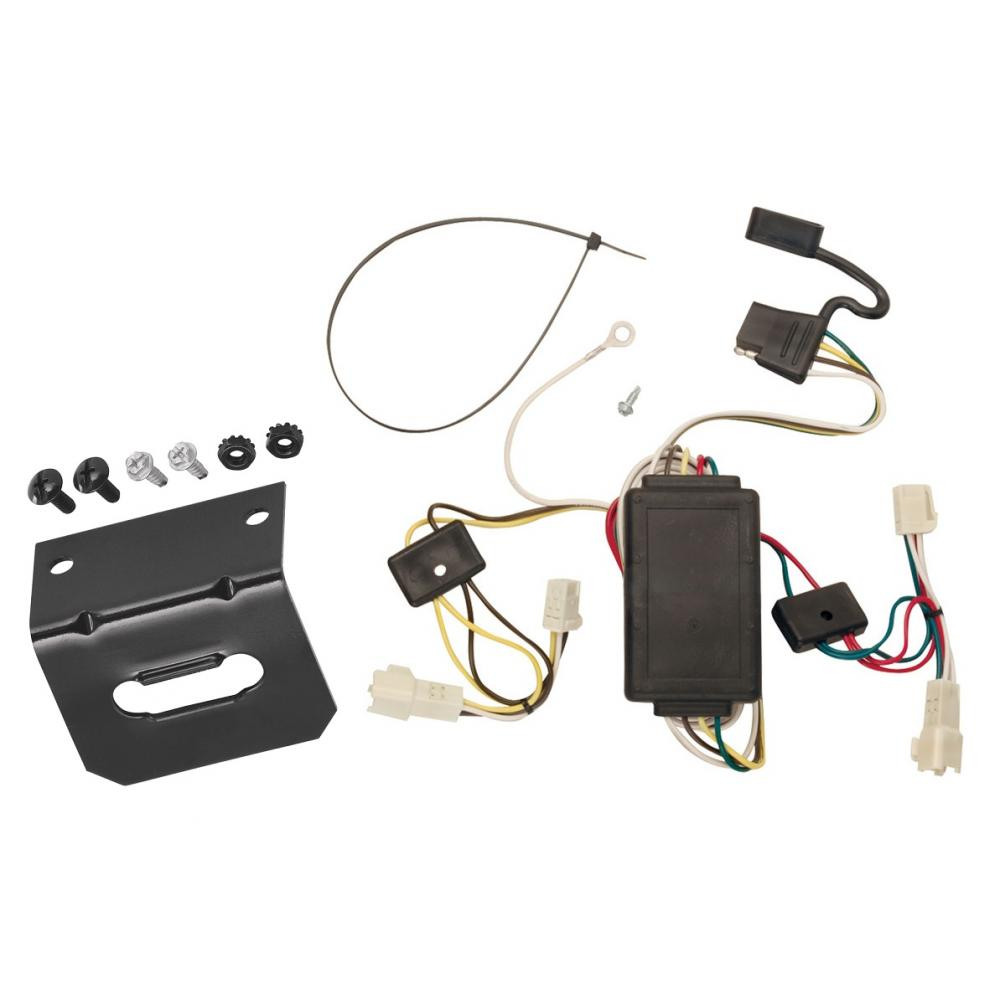 medium resolution of trailer wiring and bracket for 2003 toyota corolla all styles 4 flat harness plug play