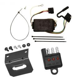 trailer wiring and bracket and light tester for 05 10 kia sportage 6 cyl  [ 1000 x 1000 Pixel ]