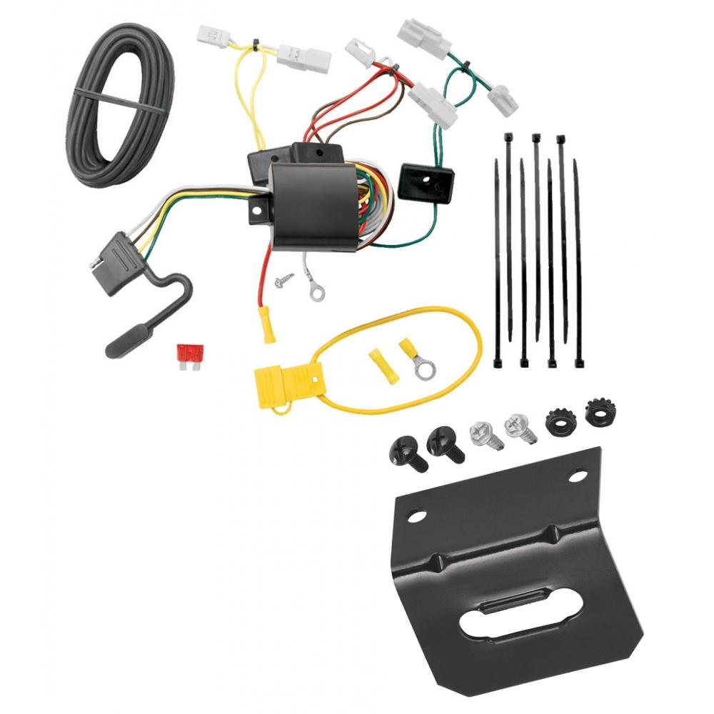 hight resolution of trailer wiring and bracket for 14 19 toyota corolla 07 17 camry 07 14 fj cruiser