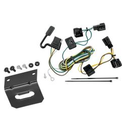 trailer wiring and bracket for 98 06 jeep wrangler all styles tj details about trailer hitch plugplay wiring kit ballmount ball [ 1000 x 1000 Pixel ]