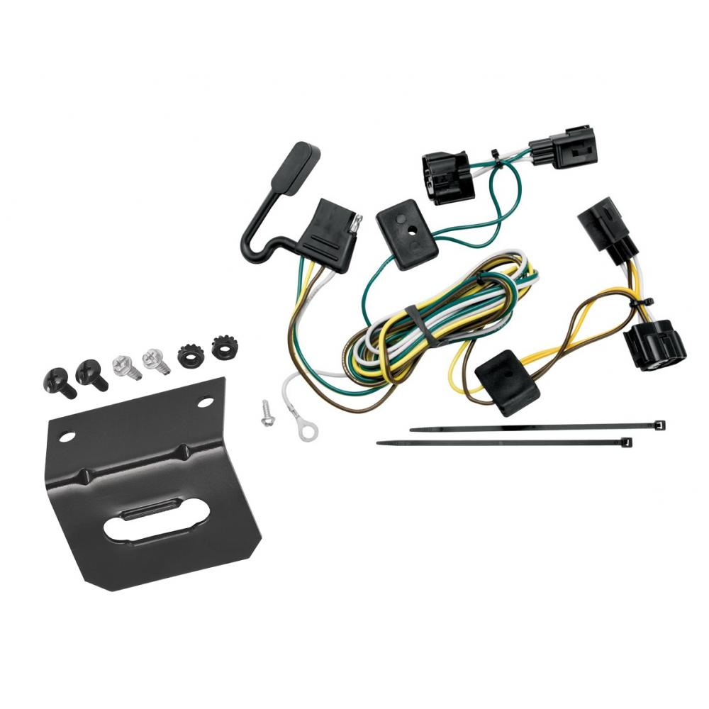 medium resolution of trailer wiring and bracket for 98 06 jeep wrangler all styles tj details about trailer hitch plugplay wiring kit ballmount ball
