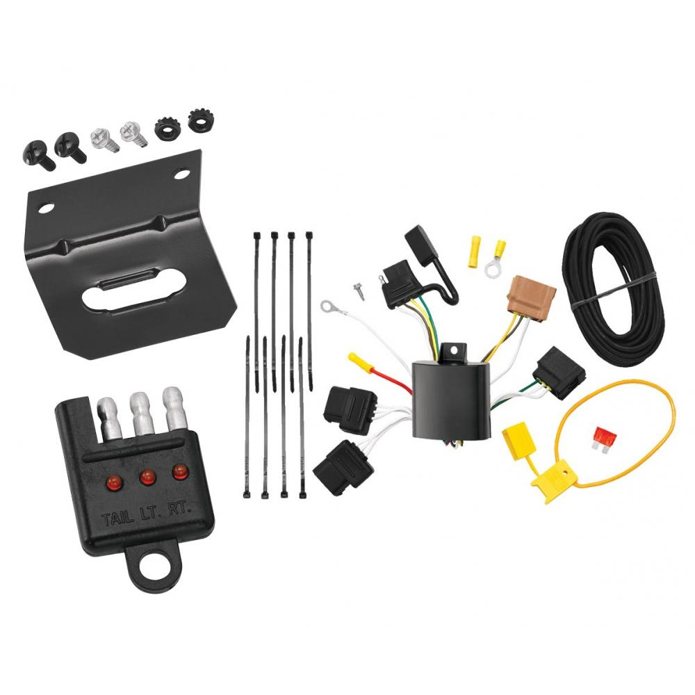medium resolution of trailer wiring and bracket and light tester for 11 13 ford fiesta 4 dr sedan 06 12 fusion