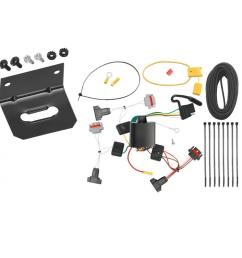 trailer wiring and bracket for 01 10 chrysler pt cruiser all styles 05 10 convertible 4 flat harness  [ 1000 x 1000 Pixel ]