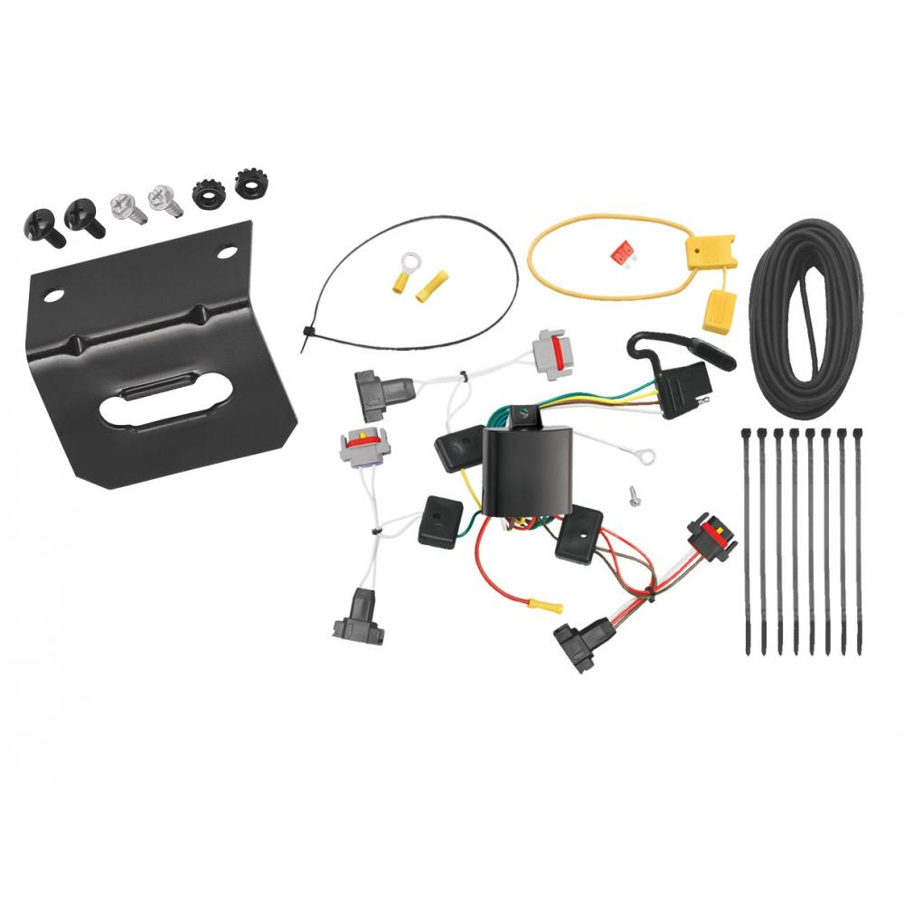 medium resolution of trailer wiring and bracket for 01 10 chrysler pt cruiser all styles 05 10 convertible 4 flat harness