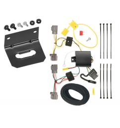 trailer wiring and bracket for 08 10 volvo v70 wagon without optional power operated tailgate 4 flat harness  [ 1000 x 1000 Pixel ]