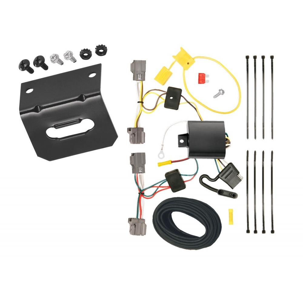 medium resolution of trailer wiring and bracket for 08 10 volvo v70 wagon without optional power operated tailgate 4 flat harness