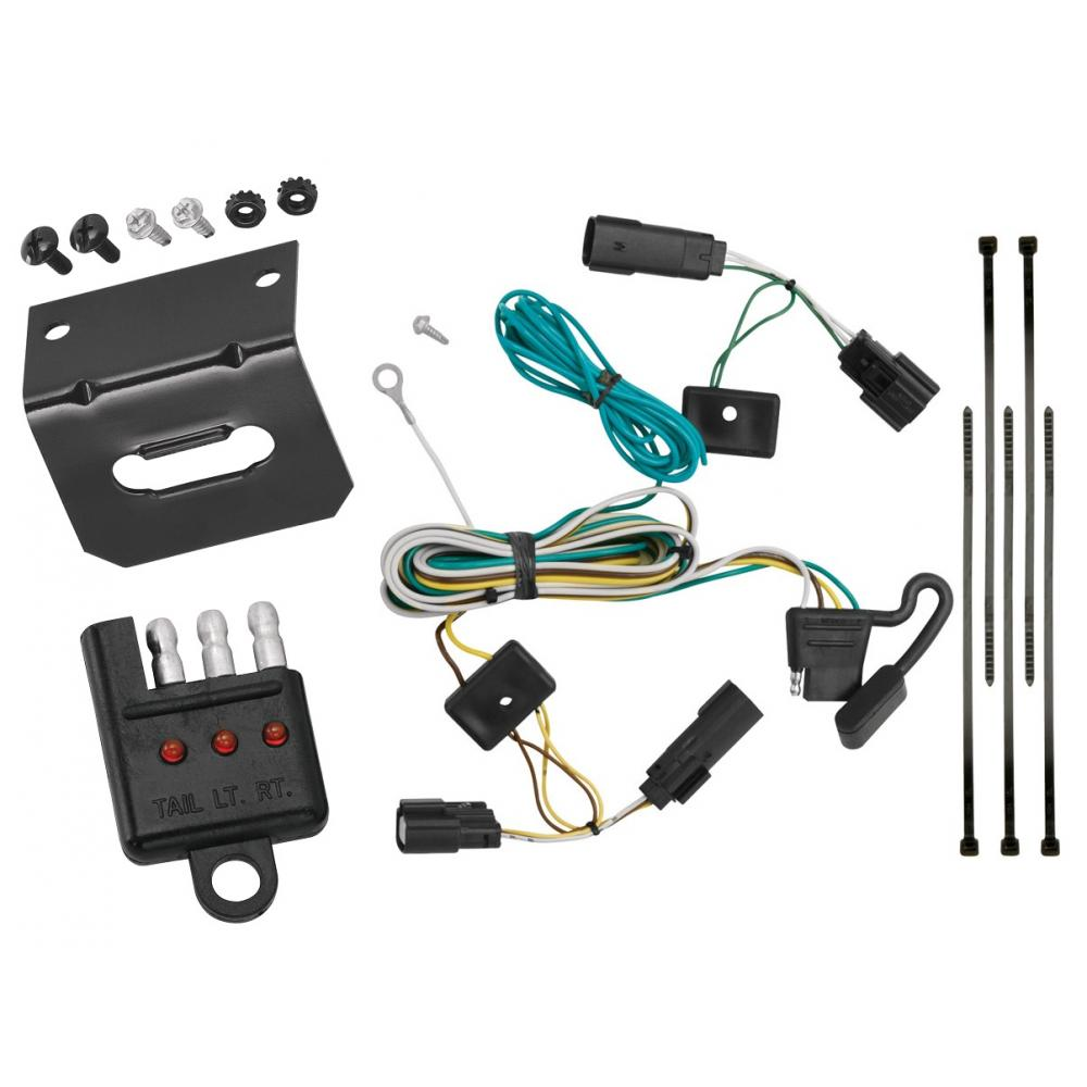 medium resolution of trailer wiring and bracket and light tester for 09 20 ford flex all styles 4 flat harness